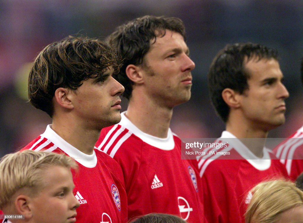 Milan bayern v valencia hargreaves pictures getty images bayern munichs owen hargreaves left lines up with team mates thomas linke centre altavistaventures Gallery