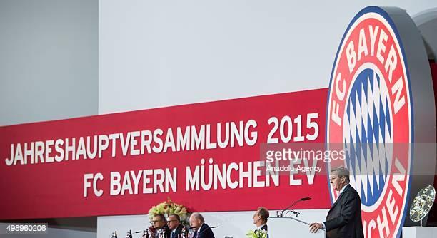 Bayern Munich's President Karl Hopfner attends the FC Bayern Munich AG Annual General Meeting 2015 in Munich on November 27 2015