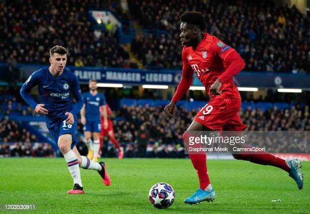 Bayern Munich's Ron-Thorben Hoffman during the UEFA Champions League round of 16 first leg match between Chelsea FC and FC Bayern Muenchen at...