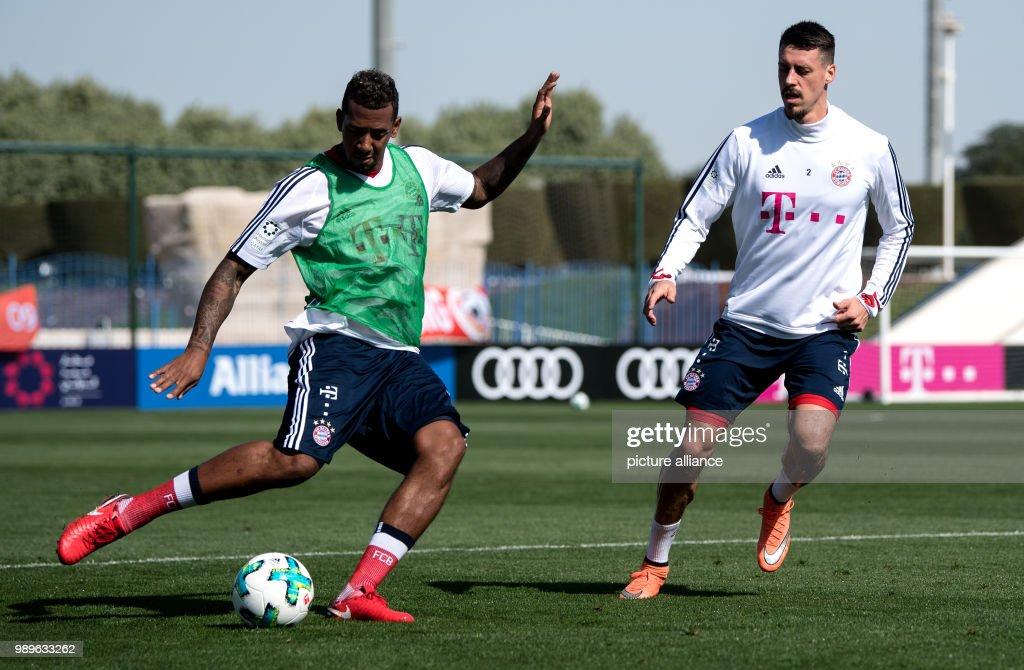 Bayern Munich S Sandro Wagner And Jerome Boateng Take Part In A