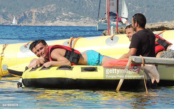 Bayern of Munich football player Xabi Alonso Napoli football player Jose Callejon and Villareal football player Roberto Soldado are seen on June 20...