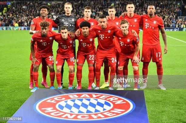 Bayern players Bayern Munich's Austrian defender David Alaba Bayern Munich's German goalkeeper Manuel Neuer Bayern Munich's French defender Benjamin...