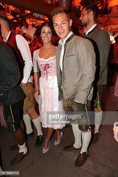 Bayern Soccer player Joshua Kimmich and his girlfriend Lina Meyer attend the 'FC Bayern Wies'n' during the Oktoberfest at Kaeferschaenke /...