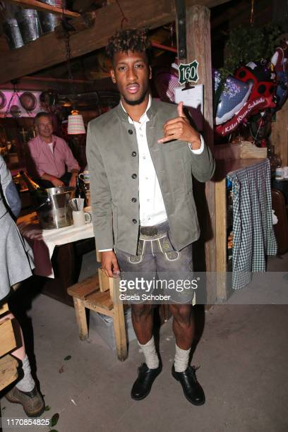 Bayern soccer player Kingsley Coman during the Oktoberfest 2019 at Theresienwiese on September 24 2019 in Munich Germany