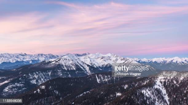 bayern - walchensee winter - beschaulichkeit stock pictures, royalty-free photos & images