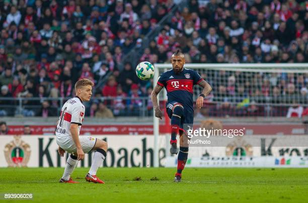 Bayerns Arturo Vidal initiates a counter during the German first division Bundesliga football match between VfB Stuttgart and Bayern Munich on...