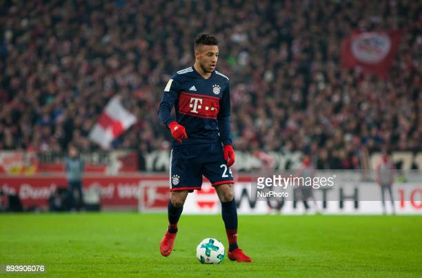 Bayerns Corentin Tolisso initiates a counter during the German first division Bundesliga football match between VfB Stuttgart and Bayern Munich on...