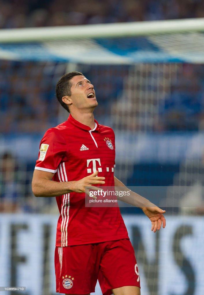 Bayern's Robert Lewandowski in action during the ...