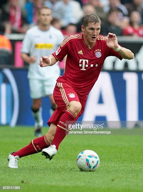 BayernSpieler Bastian Schweinsteiger im Einsatz beim BundesligaSpiel zwischen dem FC Bayern Muenchen und Borussia Moenchengladbach am in der...