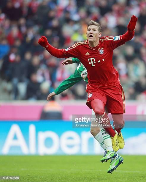 BayernSpieler Bastian Schweinsteiger in Aktion beim Bundesligaspiel FC Bayern Muenchen gegen die SpVgg Greuther Fuerth am 19 Januar 2013 in der...