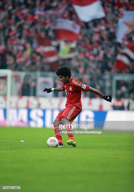 BayernSpieler Dante in Aktion beim Bundesligaspiel FC Bayern Muenchen gegen die SpVgg Greuther Fuerth am 19 Januar 2013 in der AllianzArena in...
