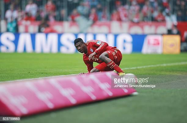 BayernSpieler David Alaba in Aktion beim Bundesligaspiel FC Bayern Muenchen gegen die SpVgg Greuther Fuerth am 19 Januar 2013 in der AllianzArena in...
