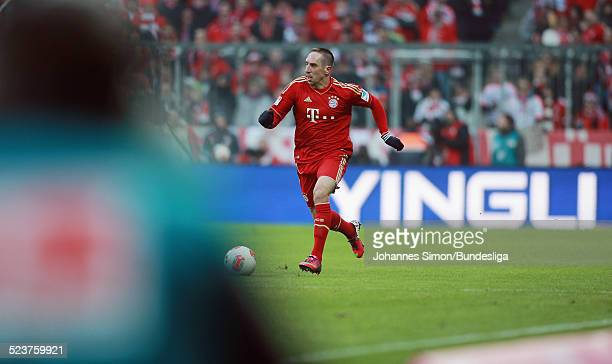 BayernSpieler Franck Ribery in Aktion beim Bundesligaspiel FC Bayern Muenchen gegen die SpVgg Greuther Fuerth am 19 Januar 2013 in der AllianzArena...