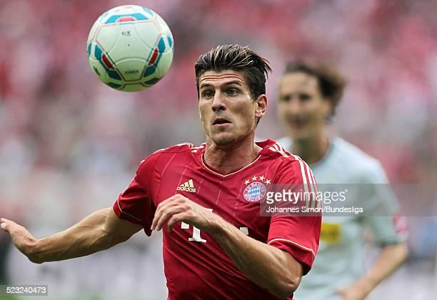 Bayern-Spieler Mario Gomez im Einsatz beim Bundesliga Spiel zwischen dem FC Bayern Muenchen und Borussia Moenchengladbach am in der Muenchner...
