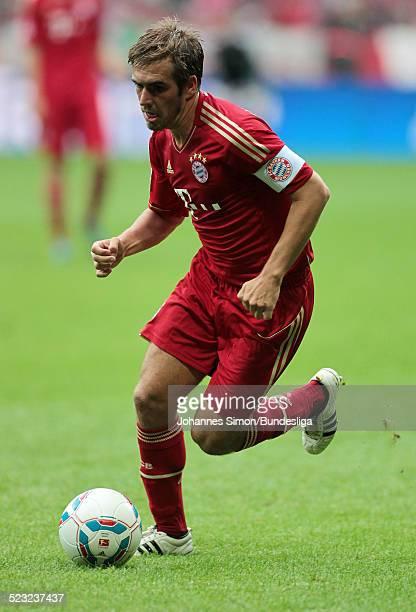 Bayern-Spieler Philipp Lahm im Einsatz beim Bundesliga-Spiel zwischen dem FC Bayern Muenchen und Borussia Moenchengladbach am in der Muenchner...