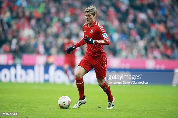 BayernSpieler Toni Kroos in Aktion beim Bundesligaspiel FC Bayern Muenchen gegen die SpVgg Greuther Fuerth am 19 Januar 2013 in der AllianzArena in...