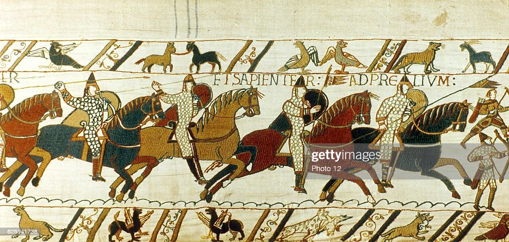 Bayeux Tapestry. : News Photo