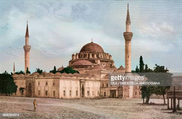 Bayezid II Mosque Constantinople Istanbul Turkey drawing by Q Michetti engraving by Francesco Canedi from a photograph by the Abdullah brothers from...