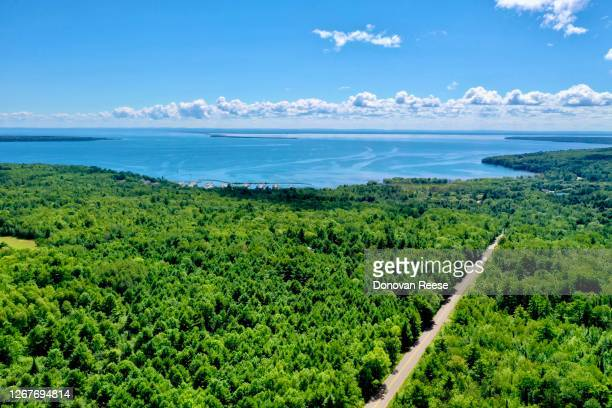 bayfield wisconsin county road - vilas_county,_wisconsin stock pictures, royalty-free photos & images