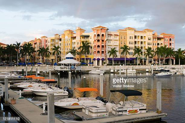 bayfront place and marina  - naples florida stock pictures, royalty-free photos & images