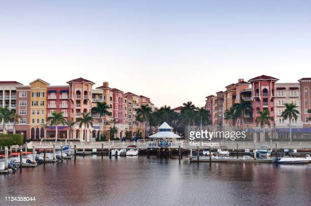 bayfront shopping center and marina - naples florida stock pictures, royalty-free photos & images