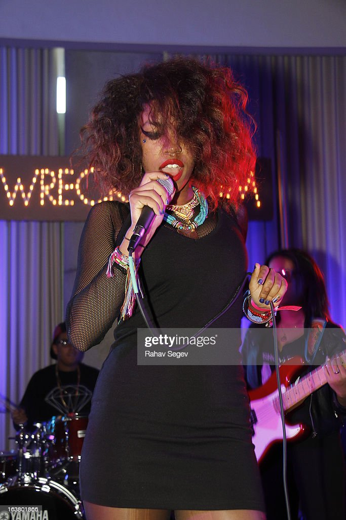 Bayli of The Skins performs at The Oakley and Wreckroom musical presentation at The W Hotel on March 15, 2013 in Austin, Texas.