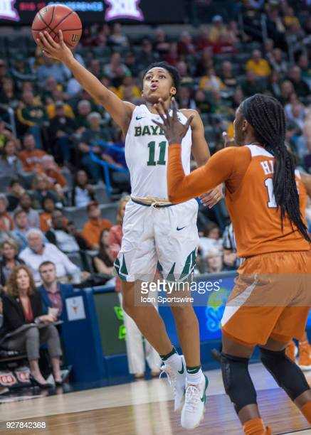 Baylor Alexis Morris going up for two points versus Texas University during the Big 12 Women's Championship on March 05 2018 at Chesapeake Energy...