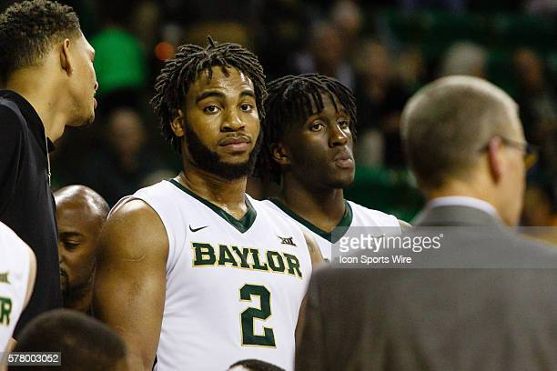 Baylor Bears forward Rico Gathers is named the most valuable player after the NCAA basketball game between the TCU Horned Frogs and the Baylor Bears...