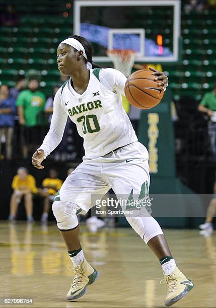 Baylor Bears guard Alexis Jones moves to the basket during the NCAA women's basketball between Baylor and Abilene Christian on December 1 at Ferrell...