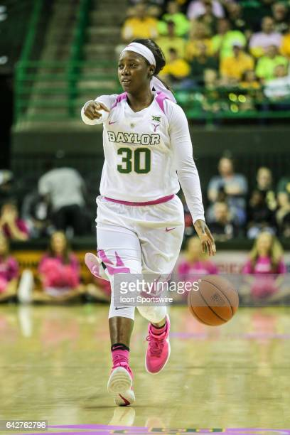 Baylor Bears guard Alexis Jones sets the play during the women's basketball game between Baylor and Oklahoma State on February 18 at the Ferrell...
