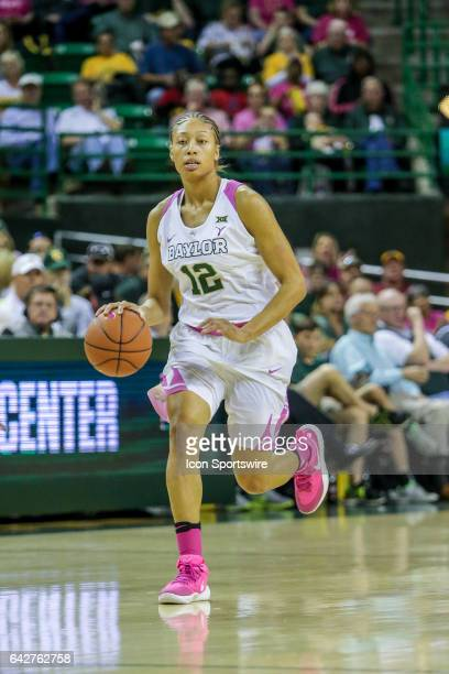 Baylor Bears guard Alexis Prince brings the ball up court during the women's basketball game between Baylor and Oklahoma State on February 18 at the...