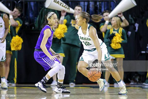 Baylor Bears guard Alexis Prince drives to the goal during the NCAA women's basketball between Baylor and Abilene Christian on December 1 at Ferrell...