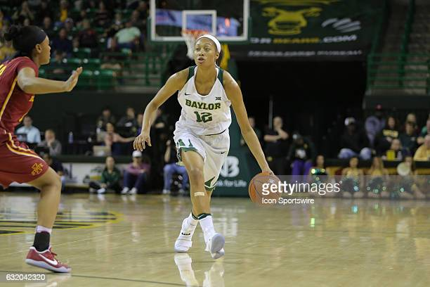 Baylor Bears guard Alexis Prince looks for an opening during the NCAA women's basketball between Baylor and Iowa State on January 18 at the Ferrell...