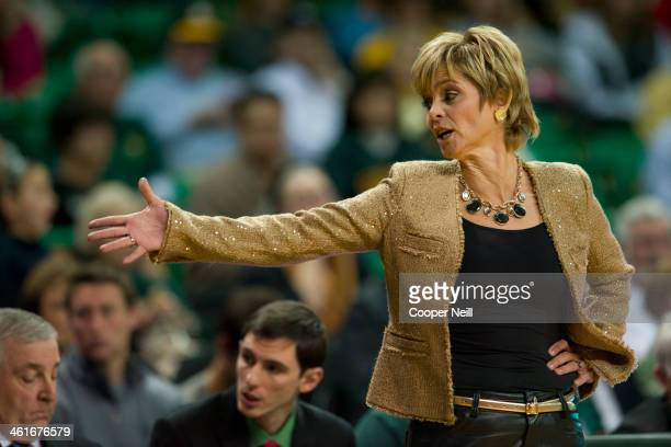 Baylor Bears head coach Kim Mulkey looks on against the Mississippi Lady Rebels on December 18 2013 at the Ferrell Center in Waco Texas