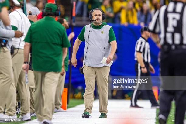 Baylor Bears head coach Matt Rhule during the Sugar Bowl game between the Georgia Bulldogs and the Baylor Bears on January 01 at the MercedezBenz...