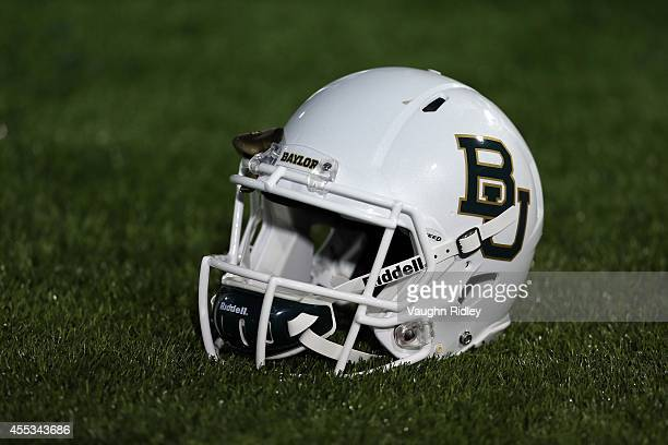 Baylor Bears helmet on the sidelines during the game against the Buffalo Bulls at UB Stadium on September 12 2014 in Buffalo New York