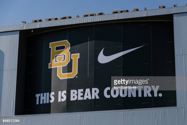 Baylor Bears sign outside the stadium before the game between the Baylor Bears and the UTSA Roadrunners on September 9 2017 at McLane Stadium in Waco...