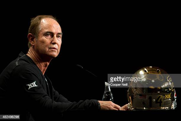 Baylor head coach Art Briles speaks during the Big 12 Media Day on July 21, 2014 at the Omni Hotel in Dallas, Texas.