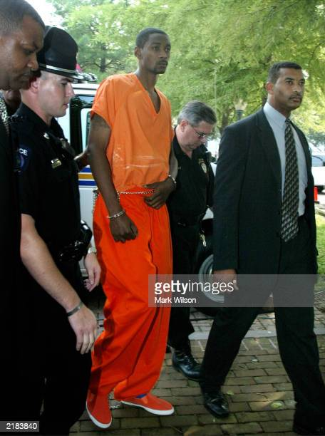 Baylor University basketball player Carlton Dotson arrives at the Kent County district court house July 22 2003 in Chestertown Maryland The former...