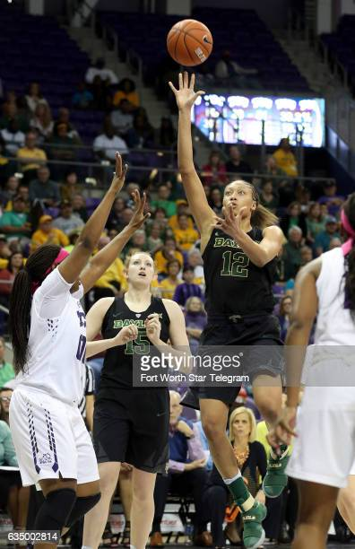 Baylor's Alexis Prince puts up a shot against TCU on Sunday Feb 12 2017 at Schollmaier Arena in Fort Worth Texas