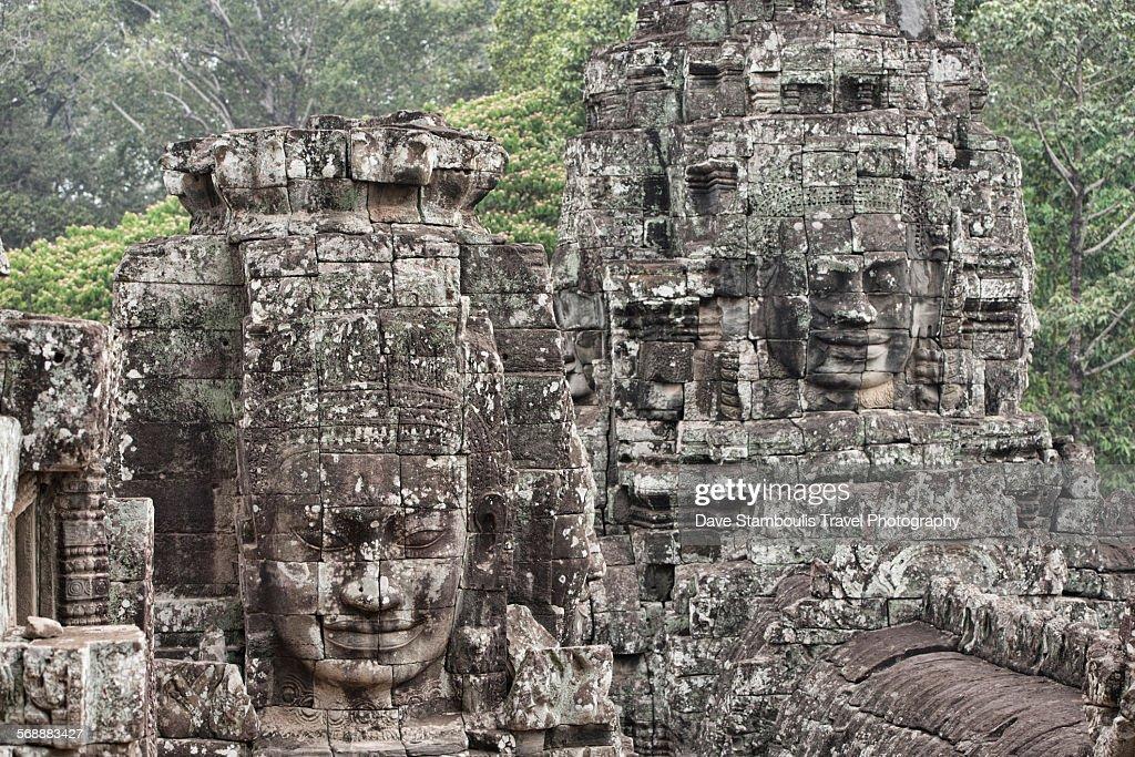 Bayon faces, Angkor : Stock Photo