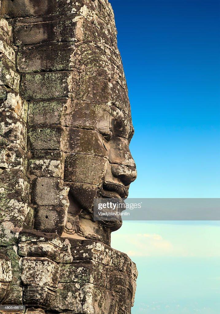 Templo de bayón, Angkor, Camboya : Foto de stock