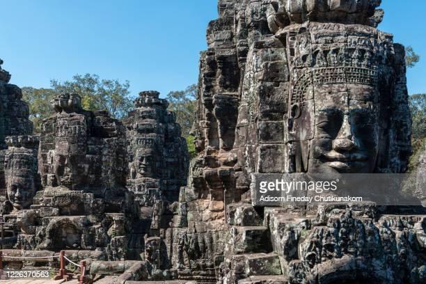 bayon temple, angkor thom, siem reap, cambodia - アンコールワット ストックフォトと画像