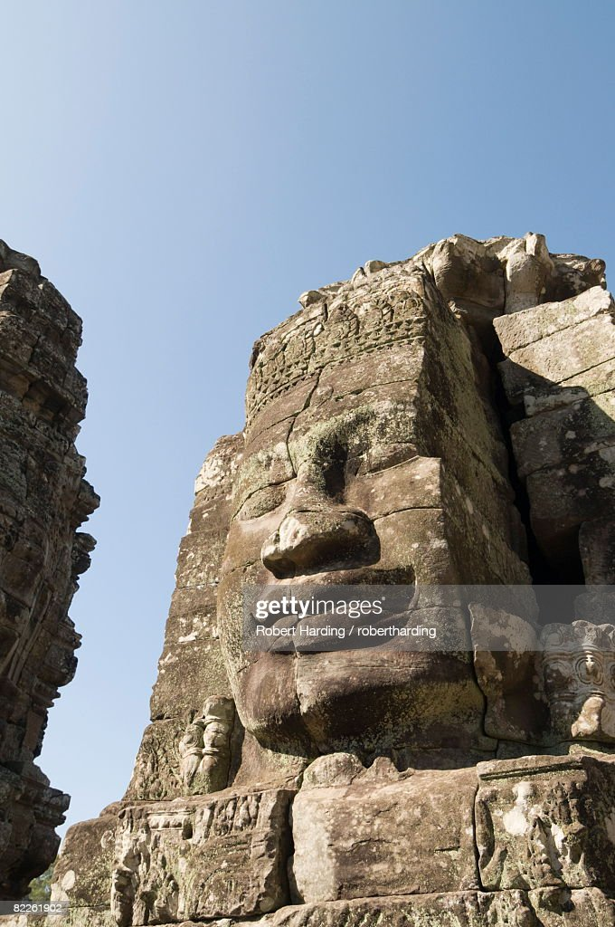 Bayon Temple, late 12th century, Buddhist, Angkor Thom, Angkor, UNESCO World Heritage Site, Siem Reap, Cambodia, Indochina, Southeast Asia, Asia : Stock Photo