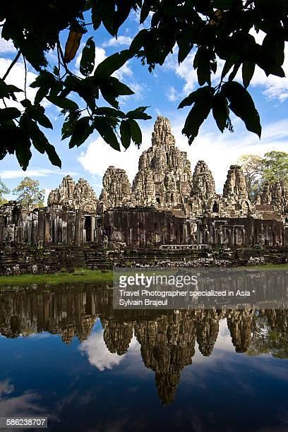 bayon temple, siem reap -  brajeul sylvain photos et images de collection