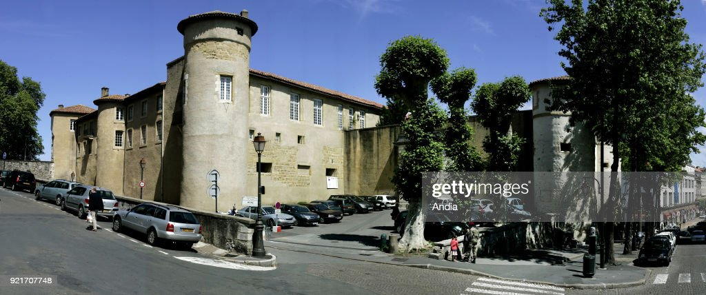 Bayonne (south-western France). . Chateau-Vieux, medieval fortress. A military fortress built in the late eleventh century on the location of the Roman castrum Lapurdum, home to the 1st Marine Infantry Parachute Regiment.