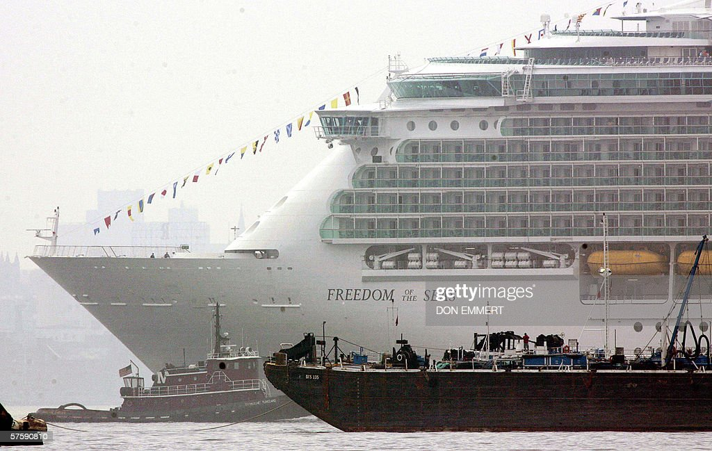 The new cruise ship Freedom of the Seas, : News Photo