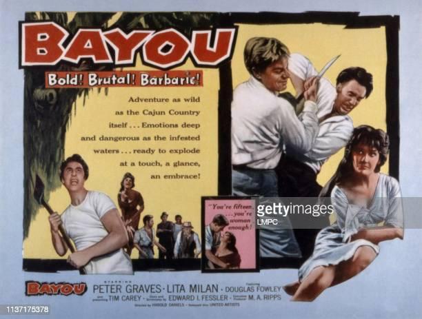 Bayou poster Timothy Carey Peter Graves Lita Milan 1957