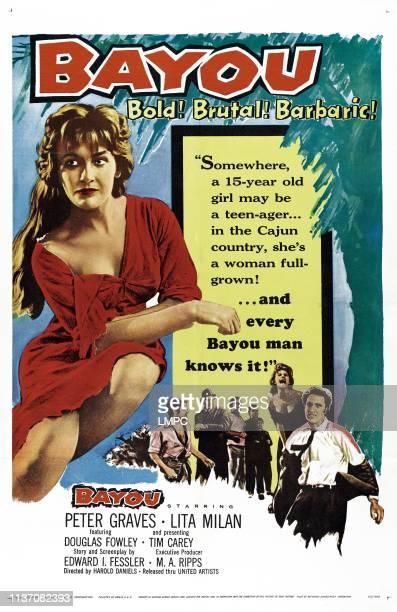 Bayou poster US poster art Lita Milan 1957