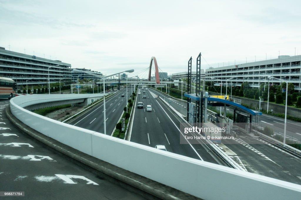 Bayshore Route of Shuto Expressway in Tokyo Haneda in Japan : ストックフォト